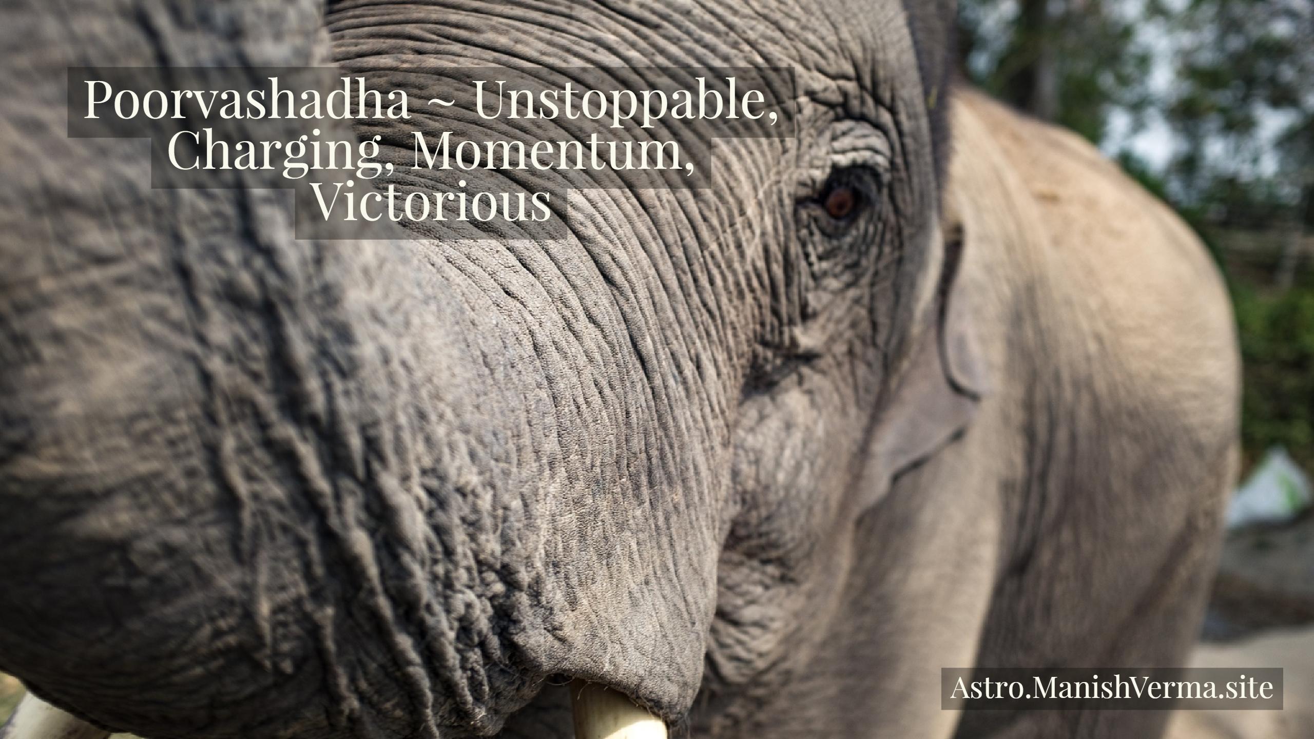 Poorvashadha Nakshatra ~ Unstoppable, Charging, Momentum, Victorious